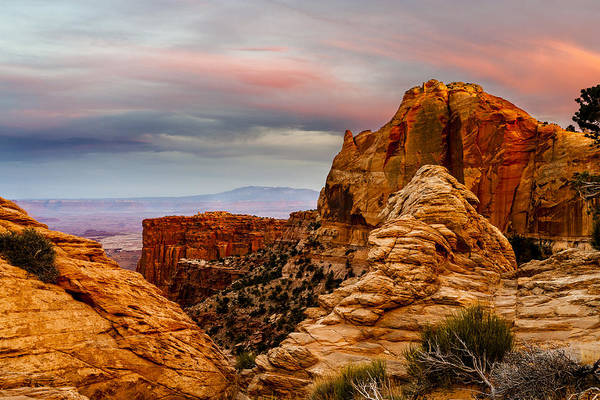 Photograph - Southern Utah Sunset by TL  Mair