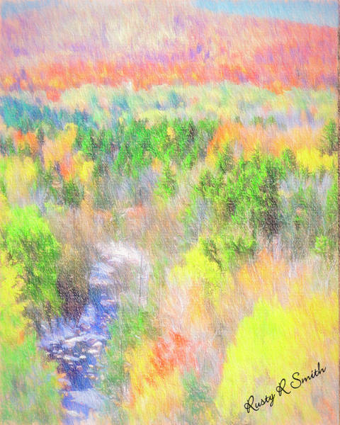 Digital Art - Southern Vermont Landscape. by Rusty R Smith