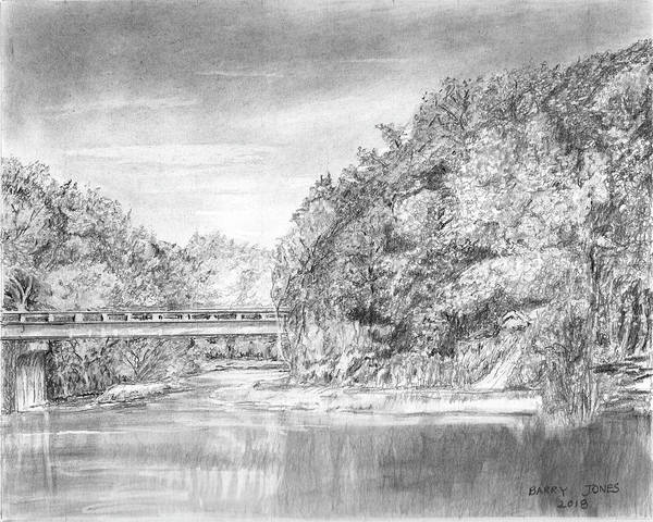 Drawing - Southern Vista by Barry Jones