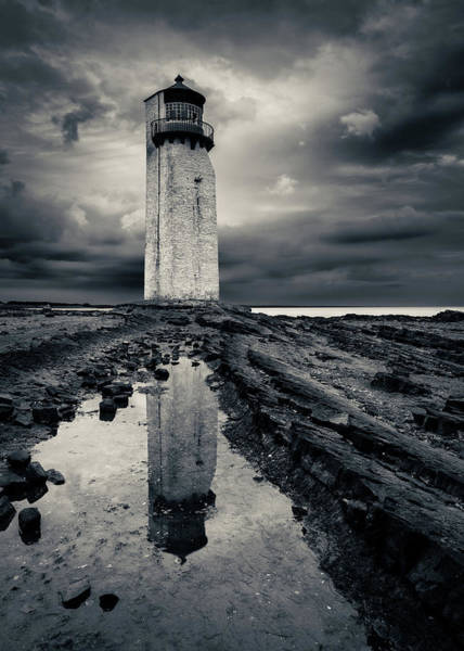 Galloway Wall Art - Photograph - Southerness Lighthouse by Dave Bowman