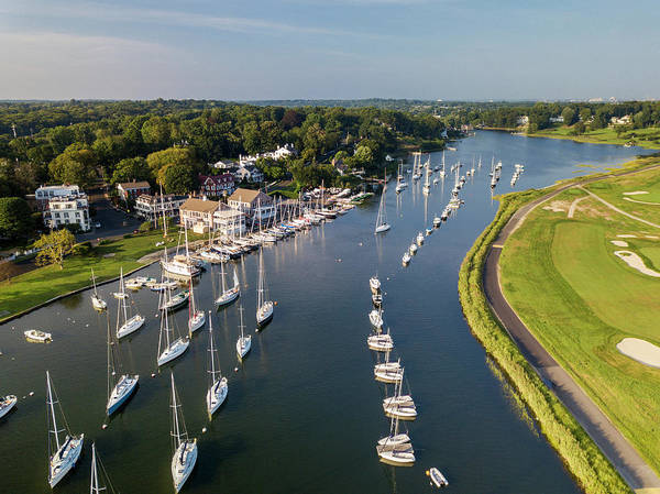Fairfield Ct Photograph - Southport Harbor Aerial by Stephanie McDowell