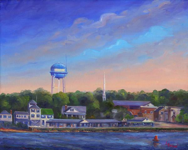 North Carolina Painting - Southport Nc Waterfront by Jeff Pittman