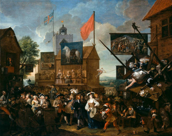 Painting - Southwark Fair by William Hogarth
