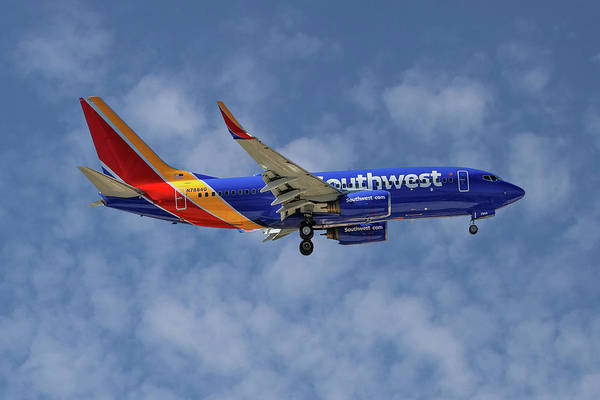 Airlines Photograph - Southwest Airlines Boeing 737-76n 1 by Smart Aviation