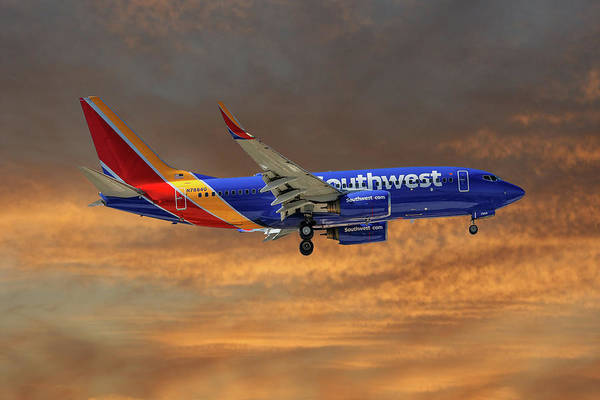 Airlines Photograph - Southwest Airlines Boeing 737-76n 3 by Smart Aviation