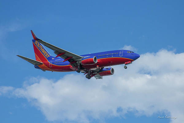 Photograph - Southwest Airlines Jet N223nw Color Perfect 2 Atlanta Georgia by Reid Callaway
