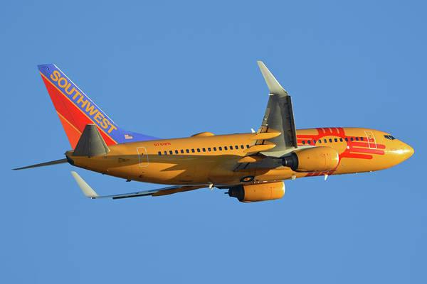 Wall Art - Photograph - Southwest Boeing 737-7h4 N781wn New Mexico One Phoenix Sky Harbor November 11 2017 by Brian Lockett