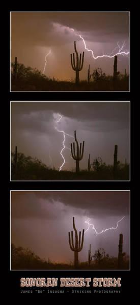 Photograph - Southwest Desert Thunderstorm Progression by James BO Insogna
