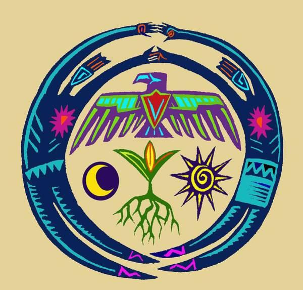 Tribal Dance Digital Art - Southwest Spirit Souls Ritual Dance by Witches Hammer