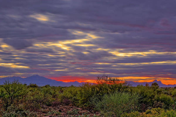 Photograph - Southwest Sunset V1816 by Mark Myhaver