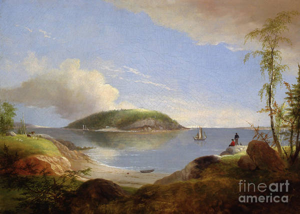 Souvenirs Painting - Souvenir Of Bear Island, Maine, 1850 by Alvan Fisher