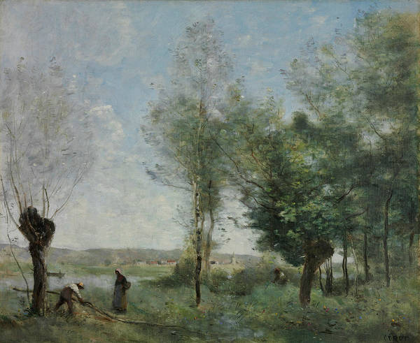 Painting - Souvenir Of Coubron by Jean-Baptiste-Camille Corot