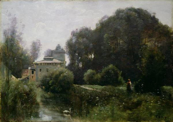 Souvenirs Painting - Souvenir Of The Villa Borghese by Jean Baptiste Camille Corot
