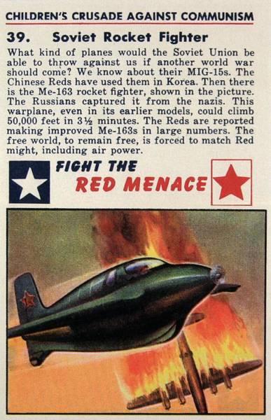 Wall Art - Mixed Media - Soviet Rocket Fighter - Fight The Red Menace - Retro Travel Poster - Vintage Poster by Studio Grafiikka