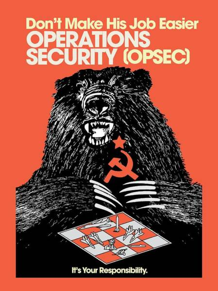 Designs Digital Art - Soviet Threat - Usaf Opsec Vintage 80's Print by Ed Jackson