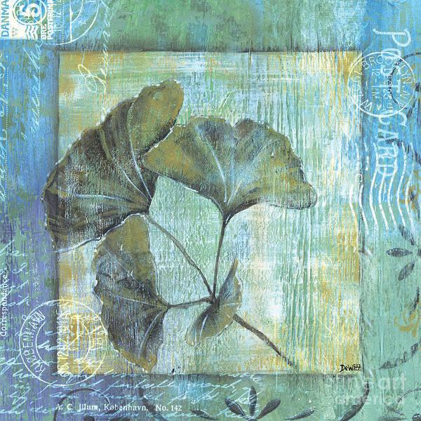 Spa Wall Art - Painting - Spa Gingko Postcard 1 by Debbie DeWitt
