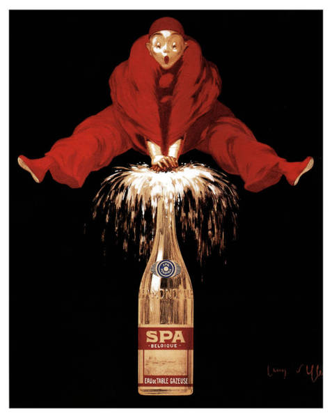 Belgium Mixed Media - Spa Monopole - Belgique - Champagne - Vintage Advertising Poster by Studio Grafiikka