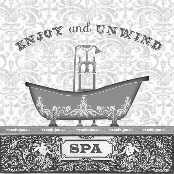 Bath Room Wall Art - Painting - Spa Time-black-jp3846 by Jean Plout