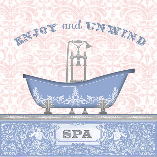 Bath Room Wall Art - Painting - Spa Time-jp3846 by Jean Plout