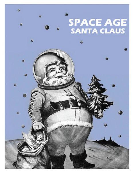 Santa Mixed Media - Space Age Santa Claus by Long Shot