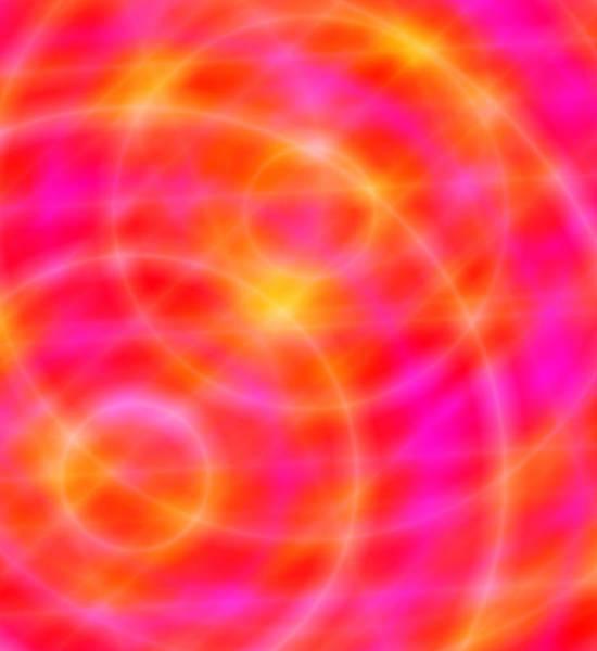 Digital Art - Orbital - Space Art - Planet Orbits - Orange / Pink Lights by Julia Woodman