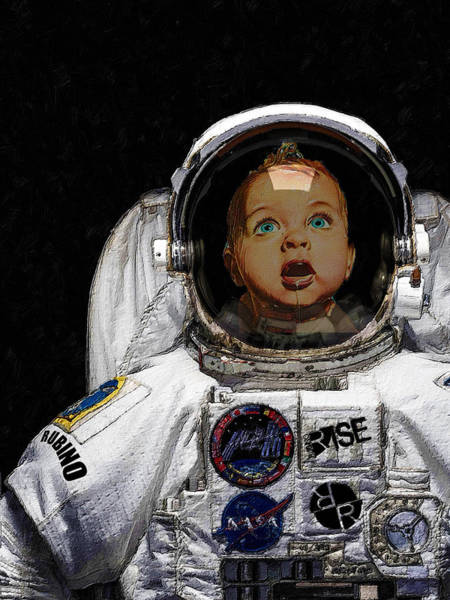 Painting - Space Baby by Tony Rubino