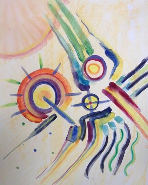 Painting - Space Dance by Gerda Lederer