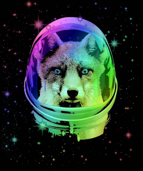 Space Mixed Media - Space Fox by Filip Hellman