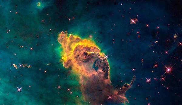 Photograph - Space Image Carina Nebula Pillar by Matthias Hauser