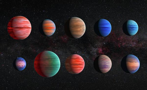 Digital Art - Space Image Jupiter Exoplanets by Matthias Hauser