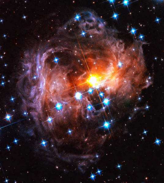 Digital Art - Space Image Light Echo Star V838 Monocerotis by Matthias Hauser