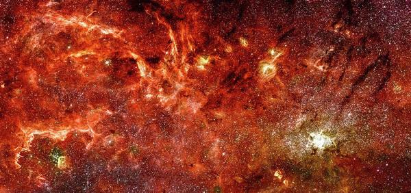Photograph - Space Image Milky Way Orange Red by Matthias Hauser