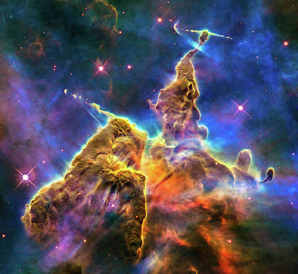 Digital Art - Space Image Mystic Mountain Carina Nebula by Matthias Hauser