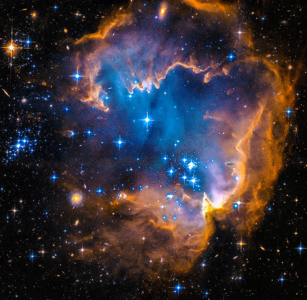 Photograph - Space Image - New Stars And Nebula by Matthias Hauser