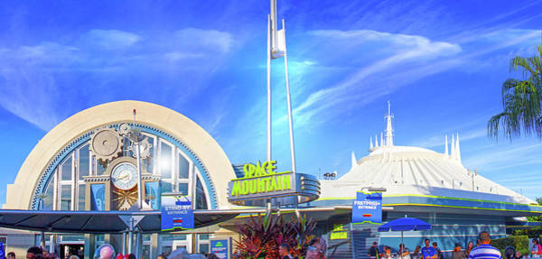 Tomorrowland Photograph - Space Mountain Entrance Panorama by Mark Andrew Thomas