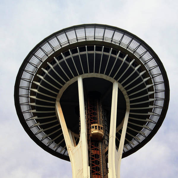 Wall Art - Photograph - Space Needle- By Linda Woods by Linda Woods