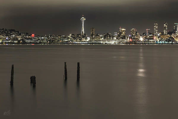 Piling Photograph - Space Needle by Thomas Ashcraft