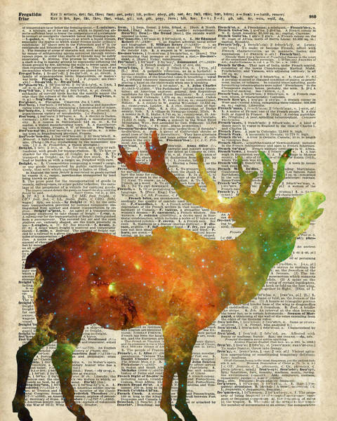 Wall Art - Digital Art - Space Reindeer by Anna W