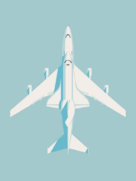 Space Ship Digital Art - Space Shuttle And 747 Transport Jet - Sky by Ivan Krpan