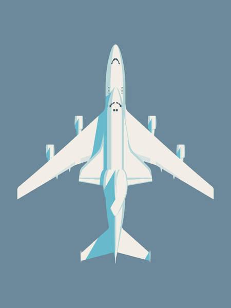Space Ship Digital Art - Space Shuttle And 747 Transport Jet - Slate by Ivan Krpan