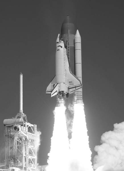 Space Shuttle Photograph - Space Shuttle Atlantis Launch by War Is Hell Store
