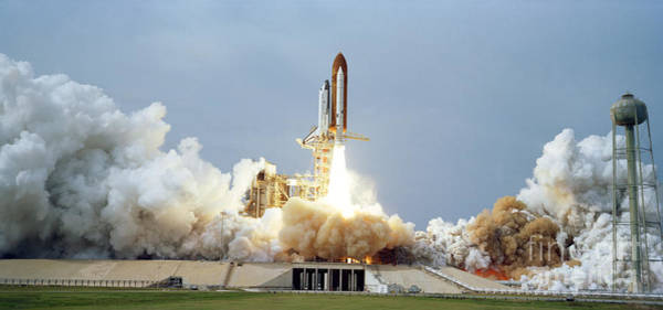 Painting - Space Shuttle Lift Off by Celestial Images