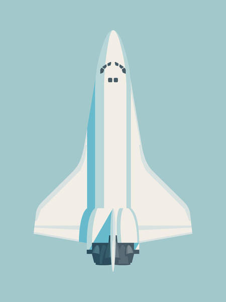 Spacecraft Wall Art - Digital Art - Space Shuttle Spacecraft - Sky by Ivan Krpan