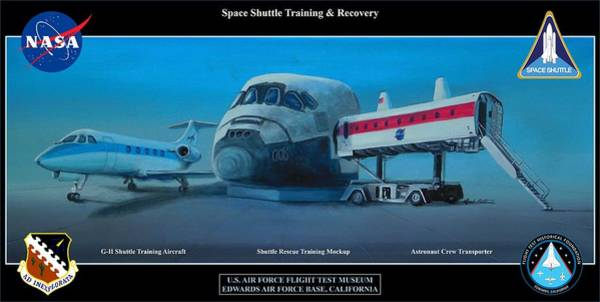 Space Shuttle Painting - Space Shuttle Training And Recovery by Mark Pestana