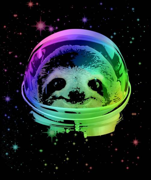 Space Mixed Media - Space Sloth by Filip Hellman