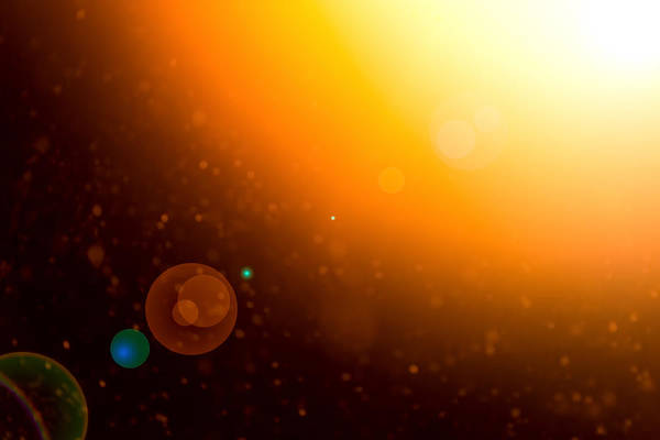 Photograph - Space Sunflare And Planetary Glow by John Williams