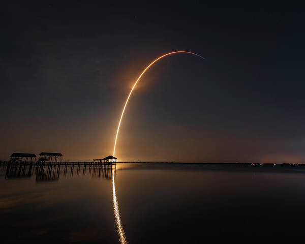 Photograph - Spacex Falcon 9 by Norman Peay