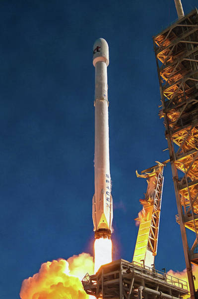 Photograph - Spacex Rocket Launch Koreasat 5a Mission by SpaceX