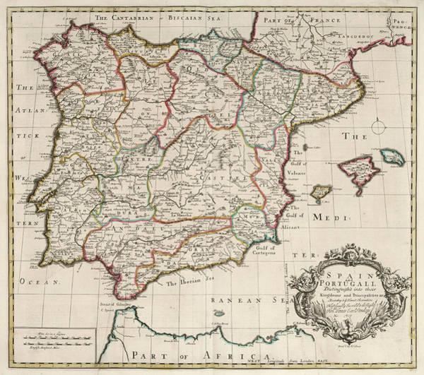 Wall Art - Painting - Spain And Portugal by John Senex