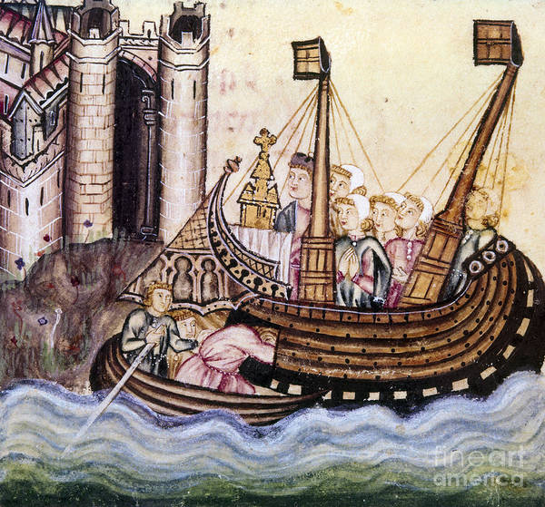 Photograph - Spain: Medieval Ship by Granger